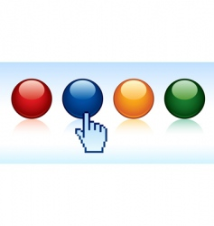 cursor and buttons vector image