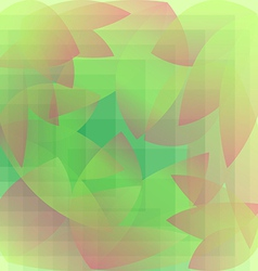 Abstract foliage green pattern geometric vector