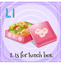 Alphabet L is lunch box vector image vector image