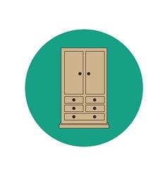 Armoire wardrobe vector
