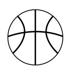 Basketball ball outline icon vector