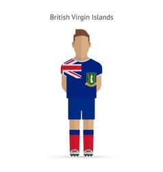 British virgin islands football player soccer vector