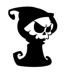 Cartoon grim reaper with scythe vector