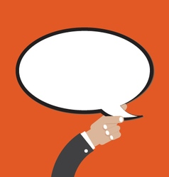 Comic Speech Bubble In Hand vector image vector image