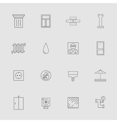 Construction and Development Line Style Icon Set vector image vector image