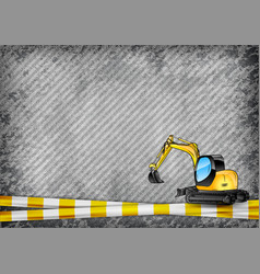 Construction texture with yellow tape and vector