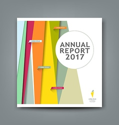 Cover new annual report colorful pattern design vector