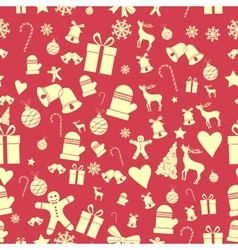 Creative Seamless Christmas pattern Beautiful red vector image vector image