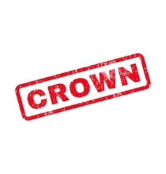 Crown text rubber stamp vector