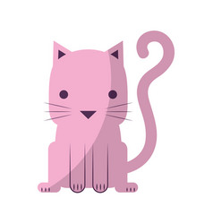 cute little cat icon vector image