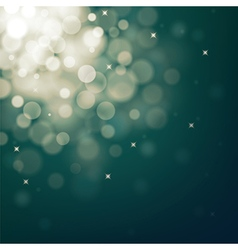 Decorative christmas background with bokeh lights vector