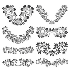 Design ornamental elements set Floral tattoo in vector image vector image