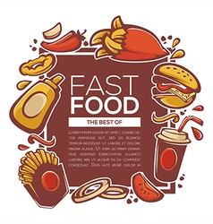 Fastfood background vector