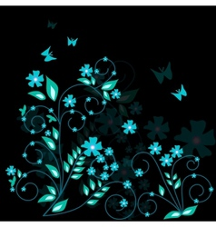 floral background - vector image