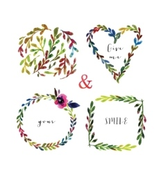 floralframes Colorful floral frames with vector image vector image