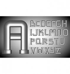 funnels alphabet vector image