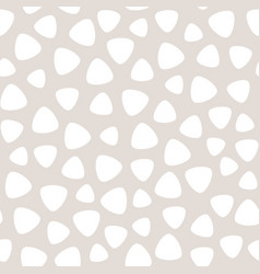 geometric seamless pattern with round triangles vector image vector image