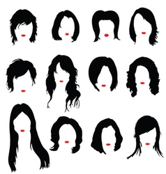 hairstyles color vector image