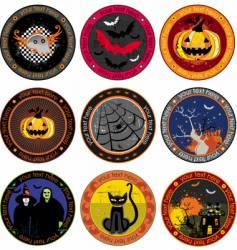 Halloween drink coasters vector