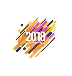 Holiday new year card - 2018 2 vector