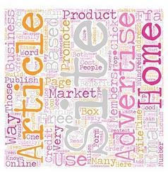 How To Market Your Home Based Business Online text vector image vector image
