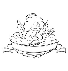 love angel cupid for vector image vector image