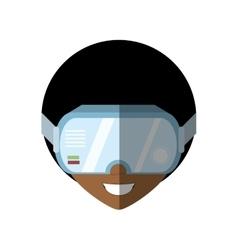 Man virtual reality glasses technology shadow vector
