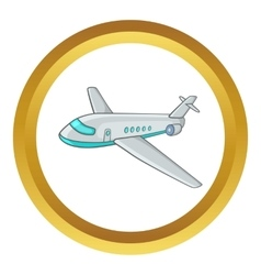 Passenger airliner icon vector