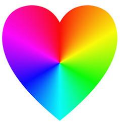 Rainbow gradient happy heart icon template vector