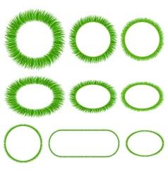 Set of grass frameworks vector image