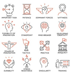 Set of icons related to business management - 39 vector