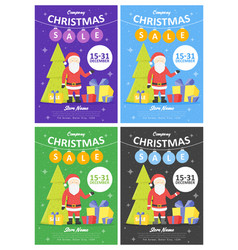 set of sale holiday website banner templates vector image vector image
