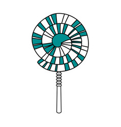 spiral lollipop icon vector image vector image