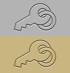 Stone carved key symbol vector