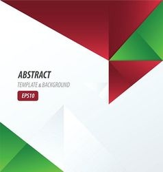 template triangle red and green color vector image vector image