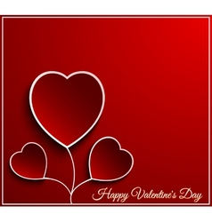 Valentine day flower heart vector image vector image