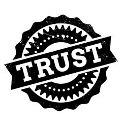 Trust stamp rubber grunge vector