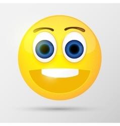 Cute smiling emoticon vector image