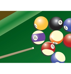 billard vector image
