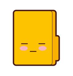 folder file kawaii character vector image