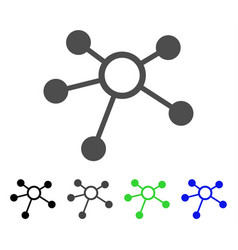 Connections flat icon vector