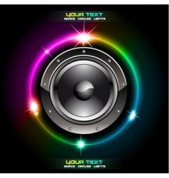 futuristic speaker vector image
