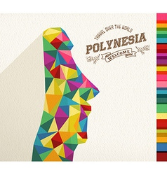 Travel polynesia landmark polygonal monument vector