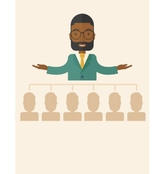African-american man giving a buisness speech vector