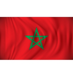 Flag of morocco vector