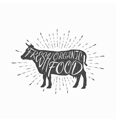 Cow farm animal icon butchery concept isolated vector