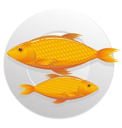 seafoods vector image