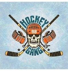 Hockey logo - a skull in a helmet vector
