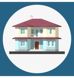 Home building flat icon vector
