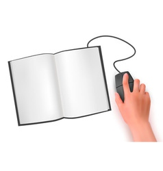 Hand computer mouse vector